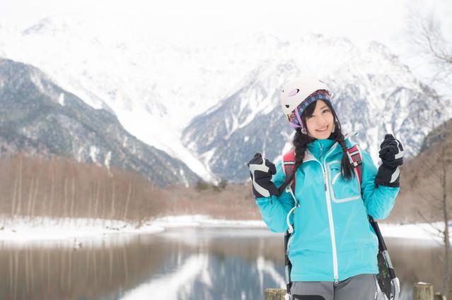 冬の上高地を満喫するぞい!の写真