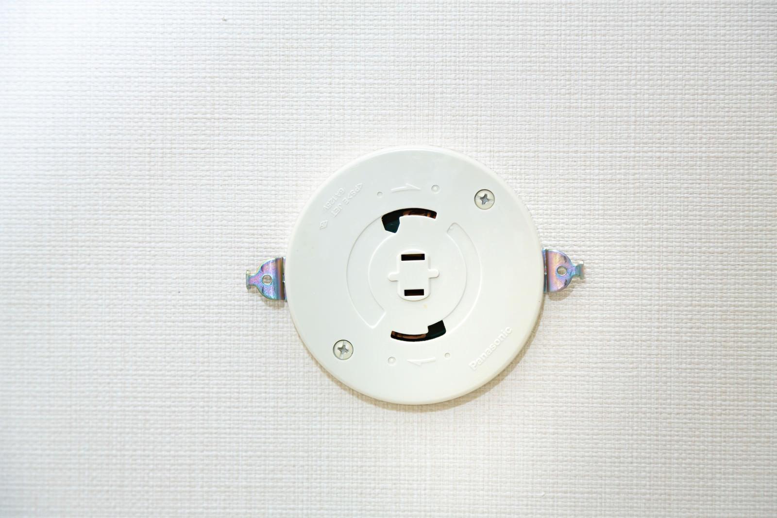 「照明の取り付け部分(引掛シーリングローゼット)」の写真