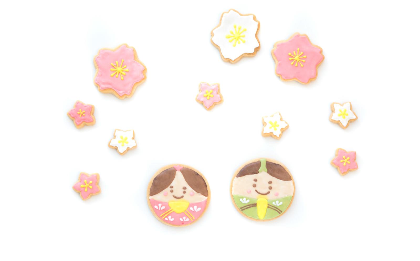 「花見をする男雛と女雛(クッキー) | 写真の無料素材・フリー素材 - ぱくたそ」の写真