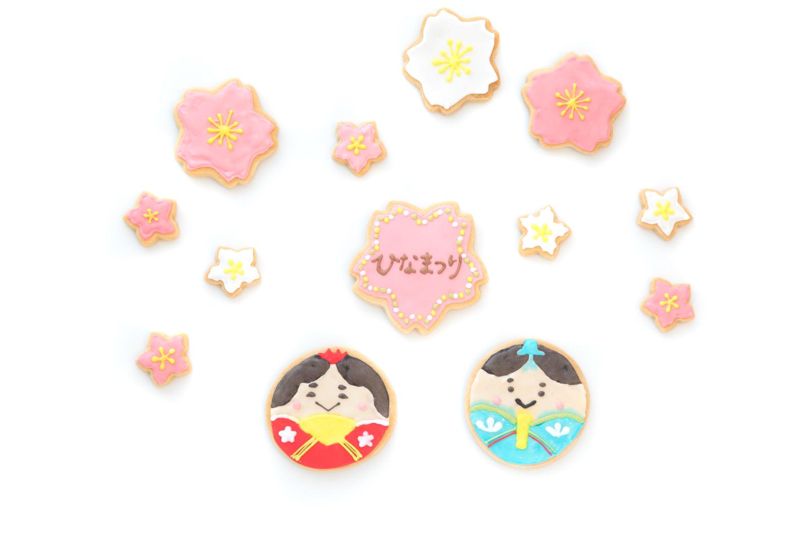 「花見をするひなまつりクッキー」の写真
