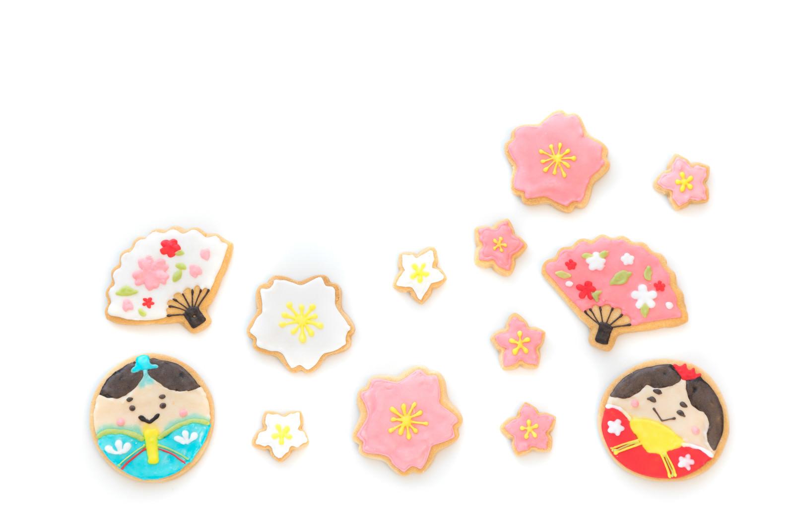 「ひな祭りのアイシングクッキー」の写真