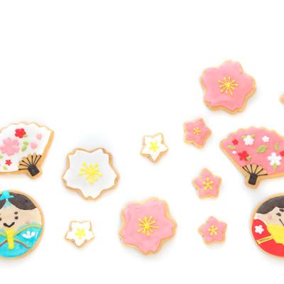 ひな祭りのアイシングクッキーの写真