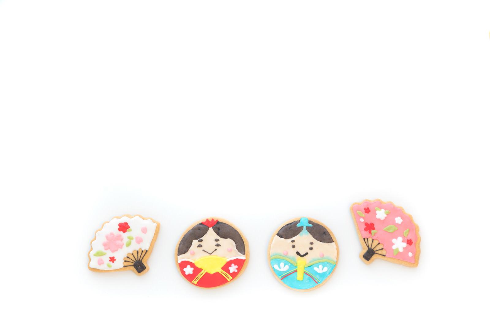 「あっぱれ男雛と女雛(アイシングクッキー)」の写真
