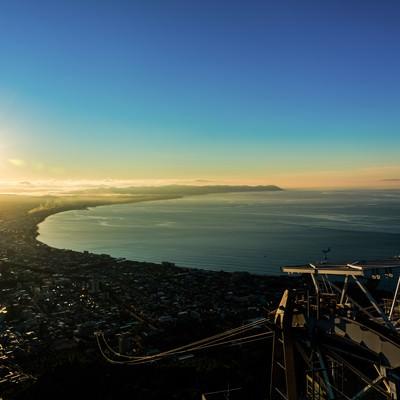 「日の出とともに」の写真素材