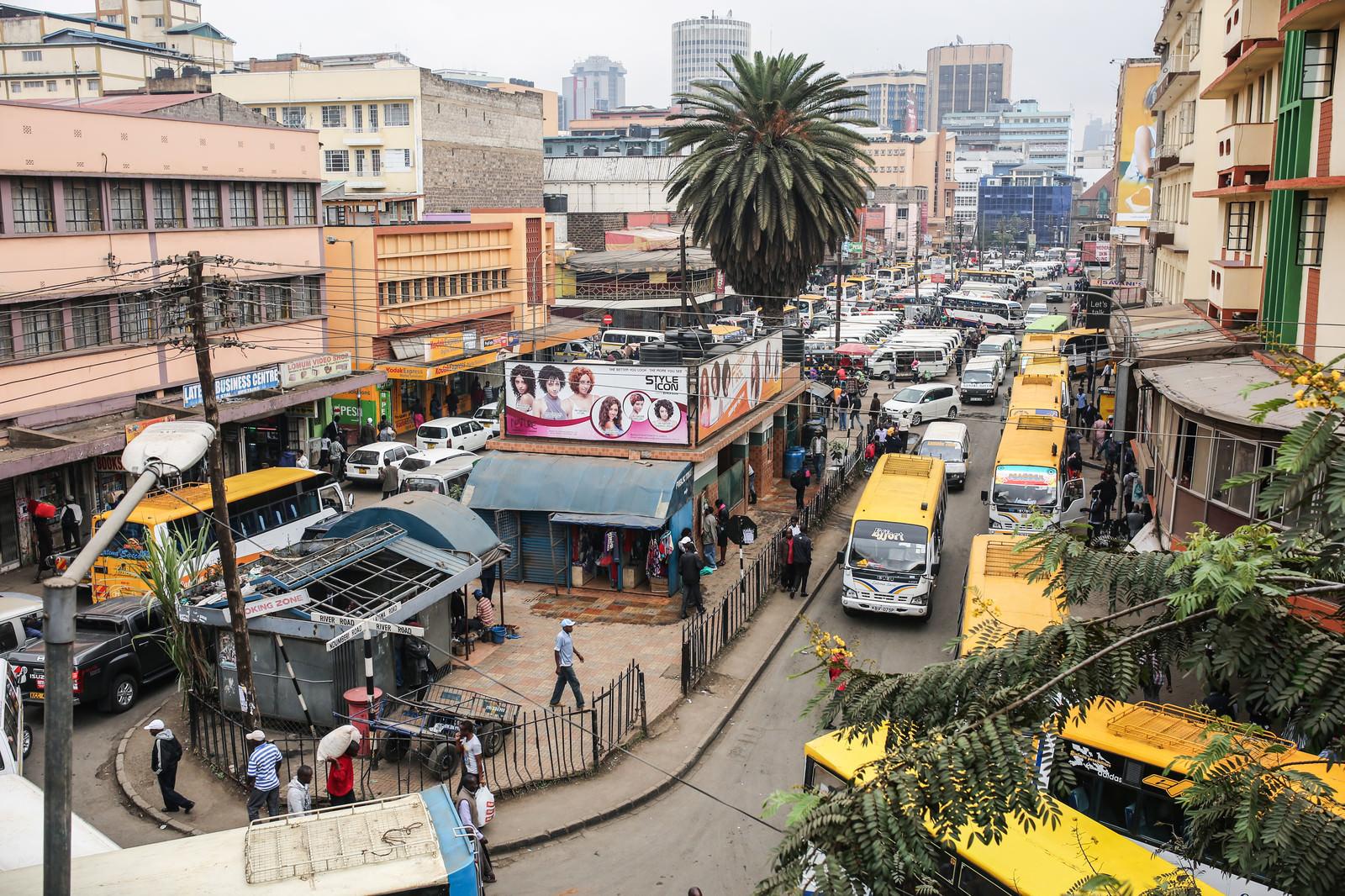 「ナイロビの市街地」の写真