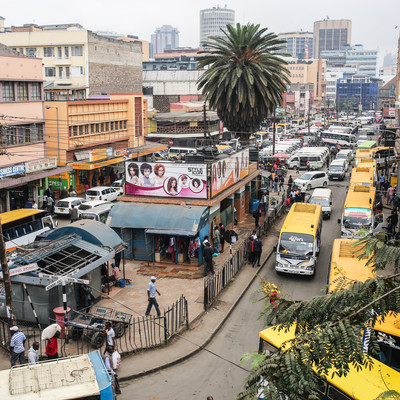 「ナイロビの市街地」の写真素材