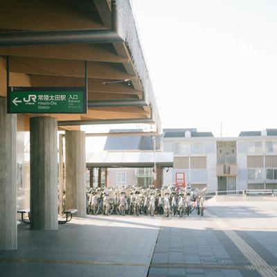 常陸太田駅前(入口)の写真