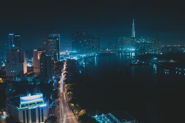 ホーチミンの都市夜景