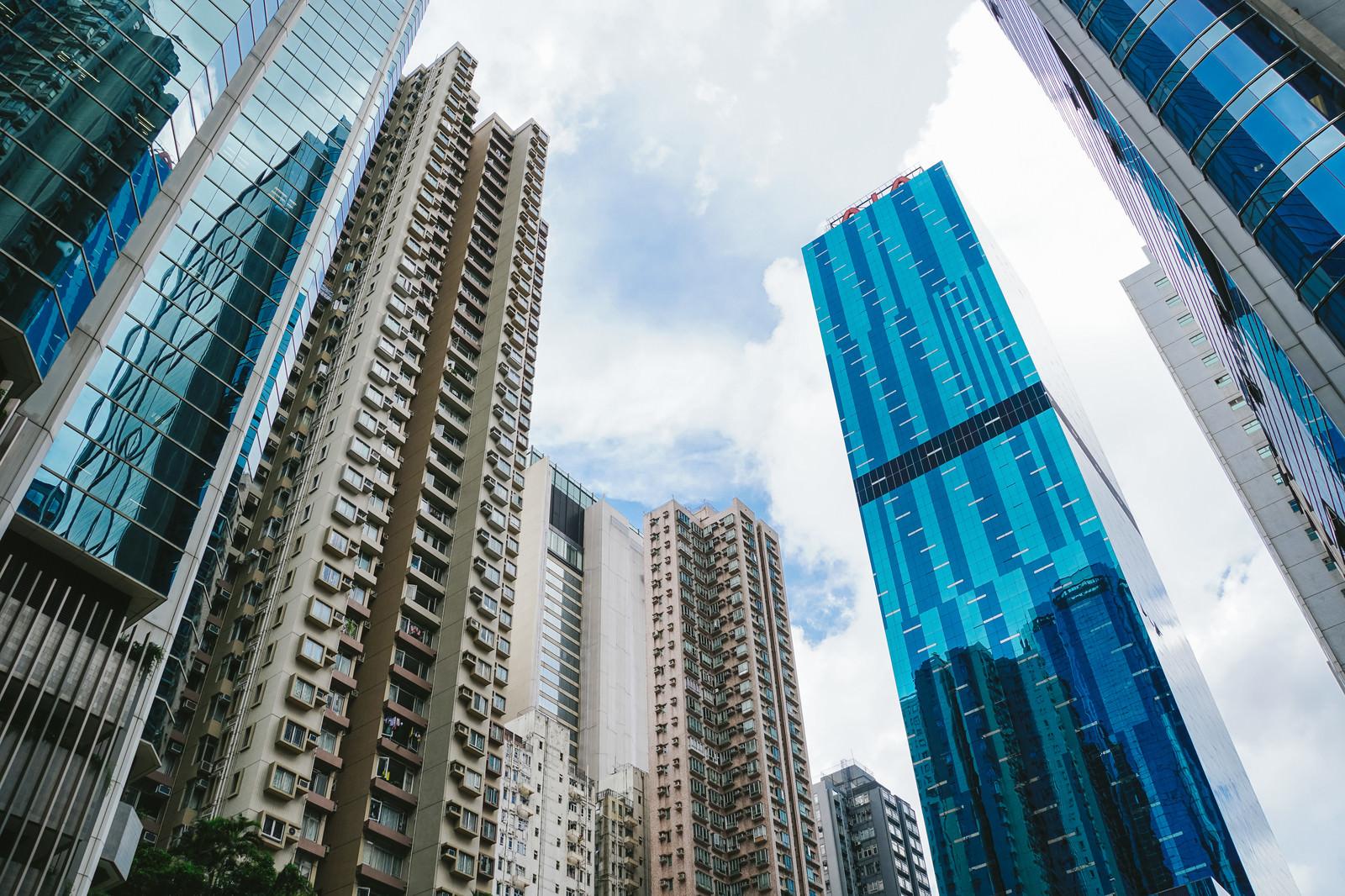 「高層ビル群(香港)」の写真