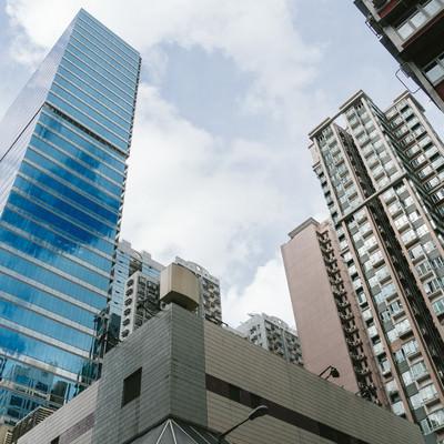 「香港の高層ビル」の写真素材