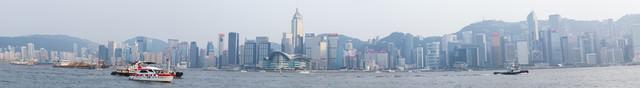 香港ビクトリアハーバー(パノラマ)の写真