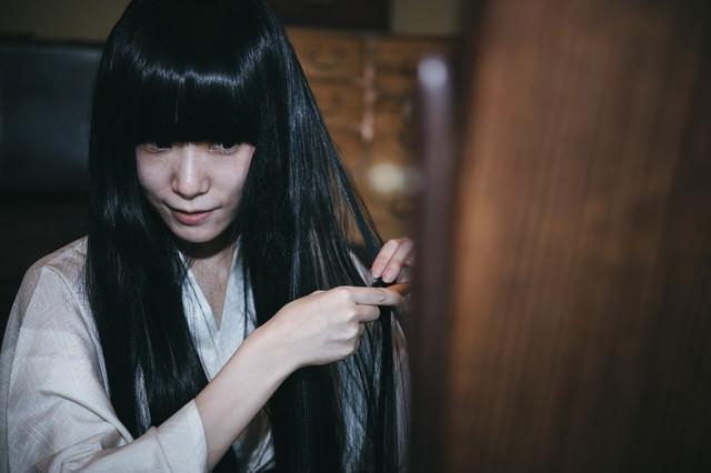 黒髪 黒髪 うふふふの写真