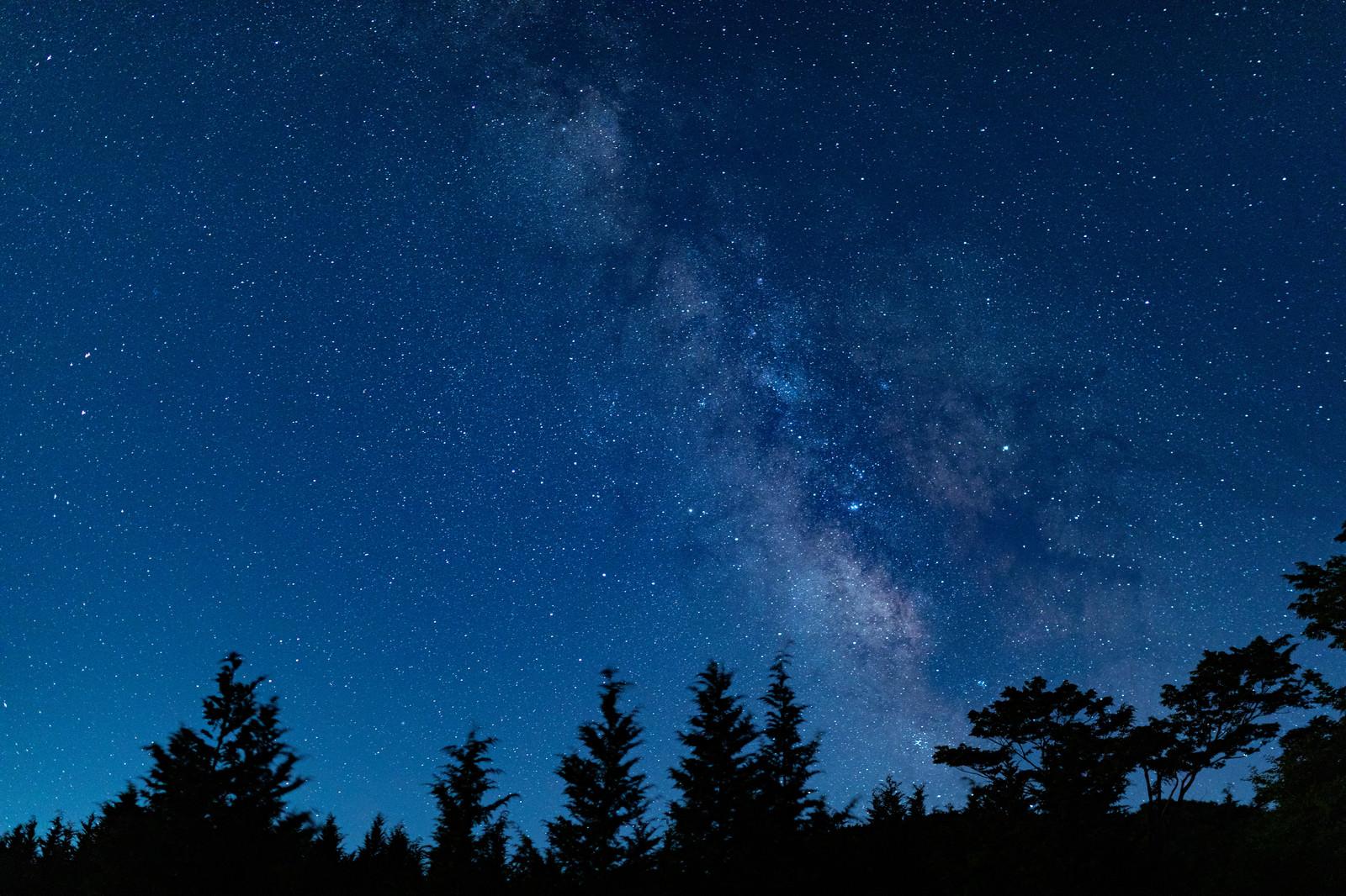 「山奥から見える星雲」の写真