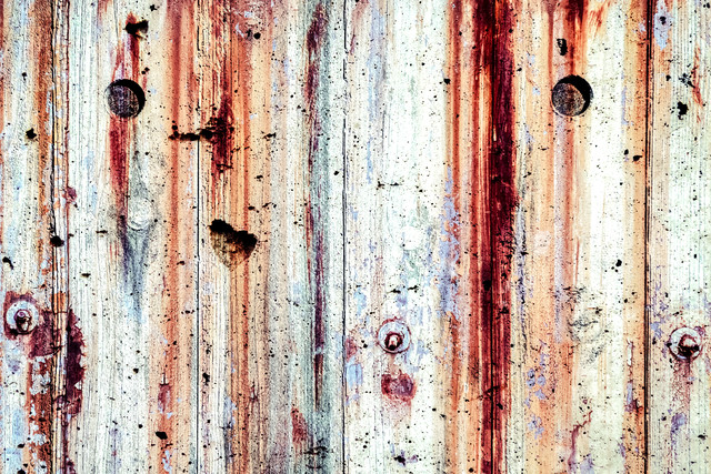 塗装された木目(テクスチャ)の写真