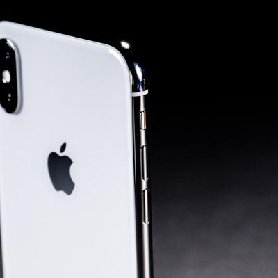 「iPhone X のボリュームキー(ボタン)」の写真素材