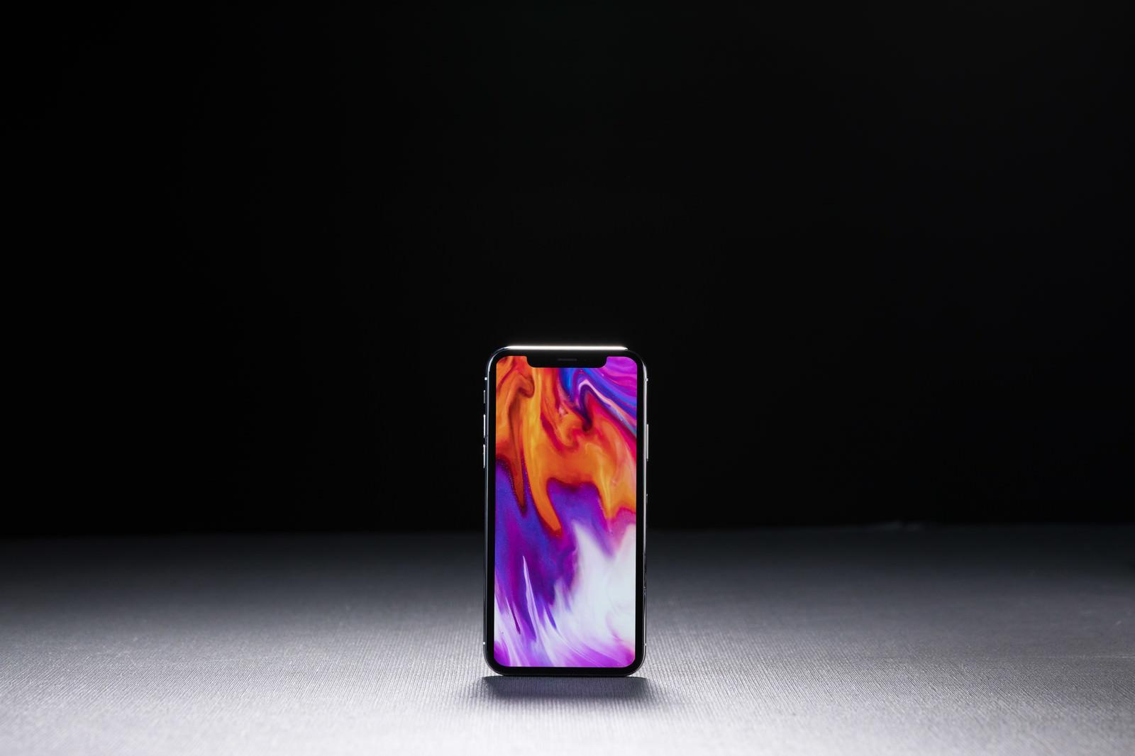 「iPhone X の画面表示領域」の写真