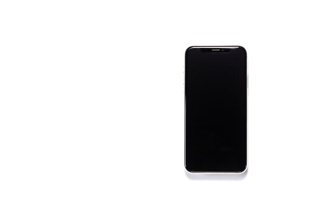 iPhone X 電源オフの写真
