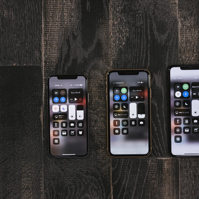 iPhone XS、XR、XS Max のディスプレイ比較の写真