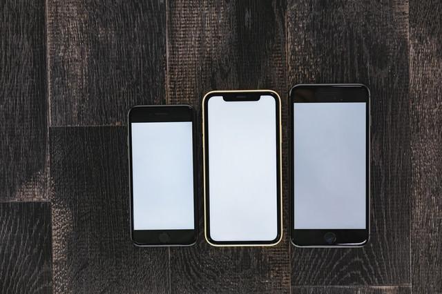 iPhone XR と旧機種を画面比較