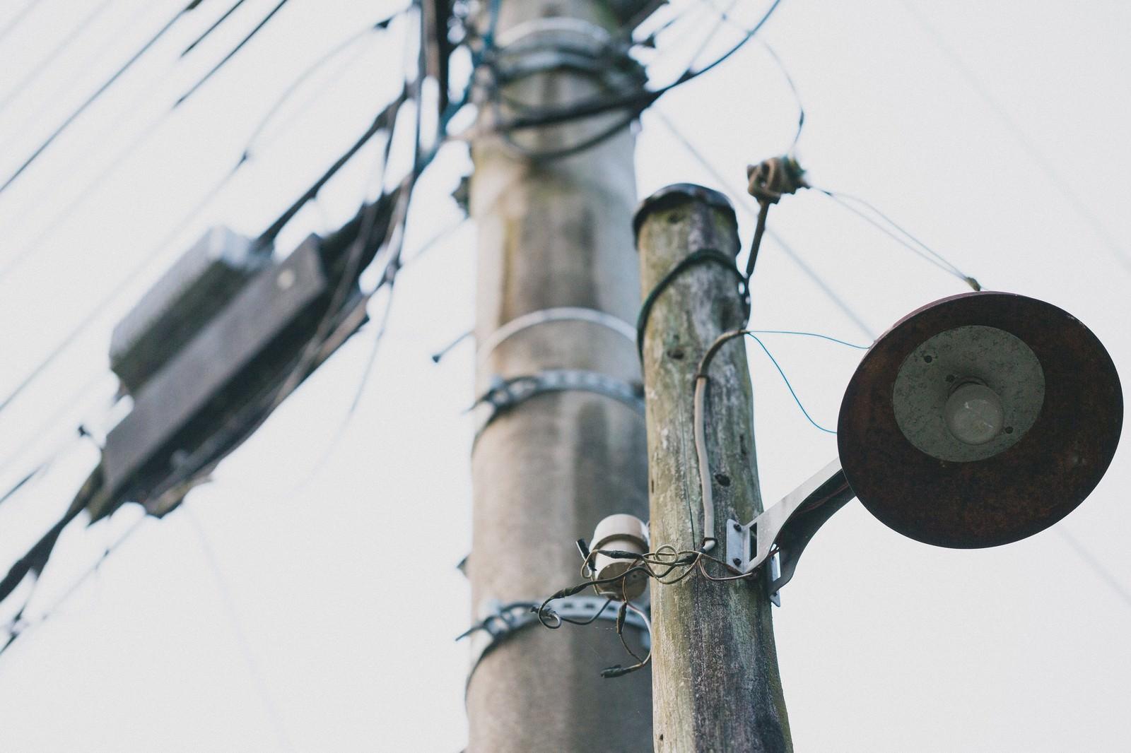 「古びた街灯」の写真