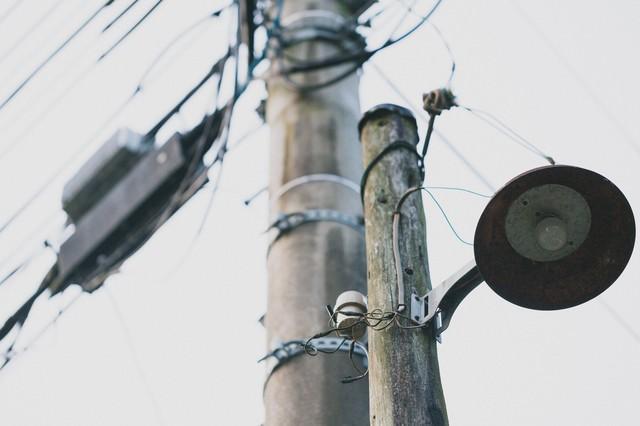 古びた街灯の写真