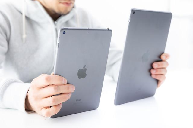 iPadminiのサイズ比較の写真