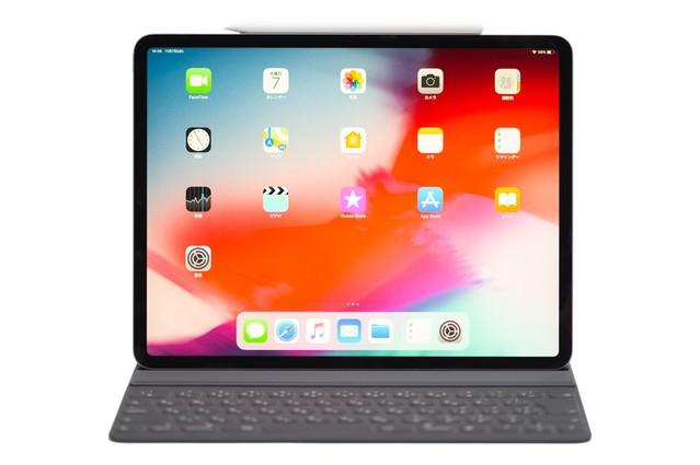 Apple pencilを側面に装着した iPad Pro 2018の写真