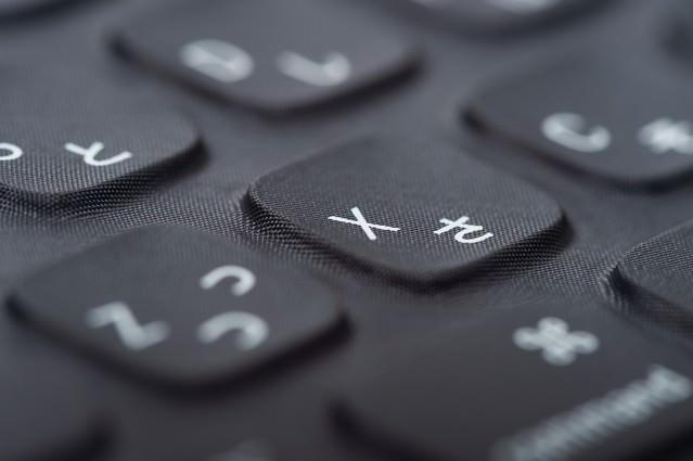 キーボードの「X」ボタンの写真