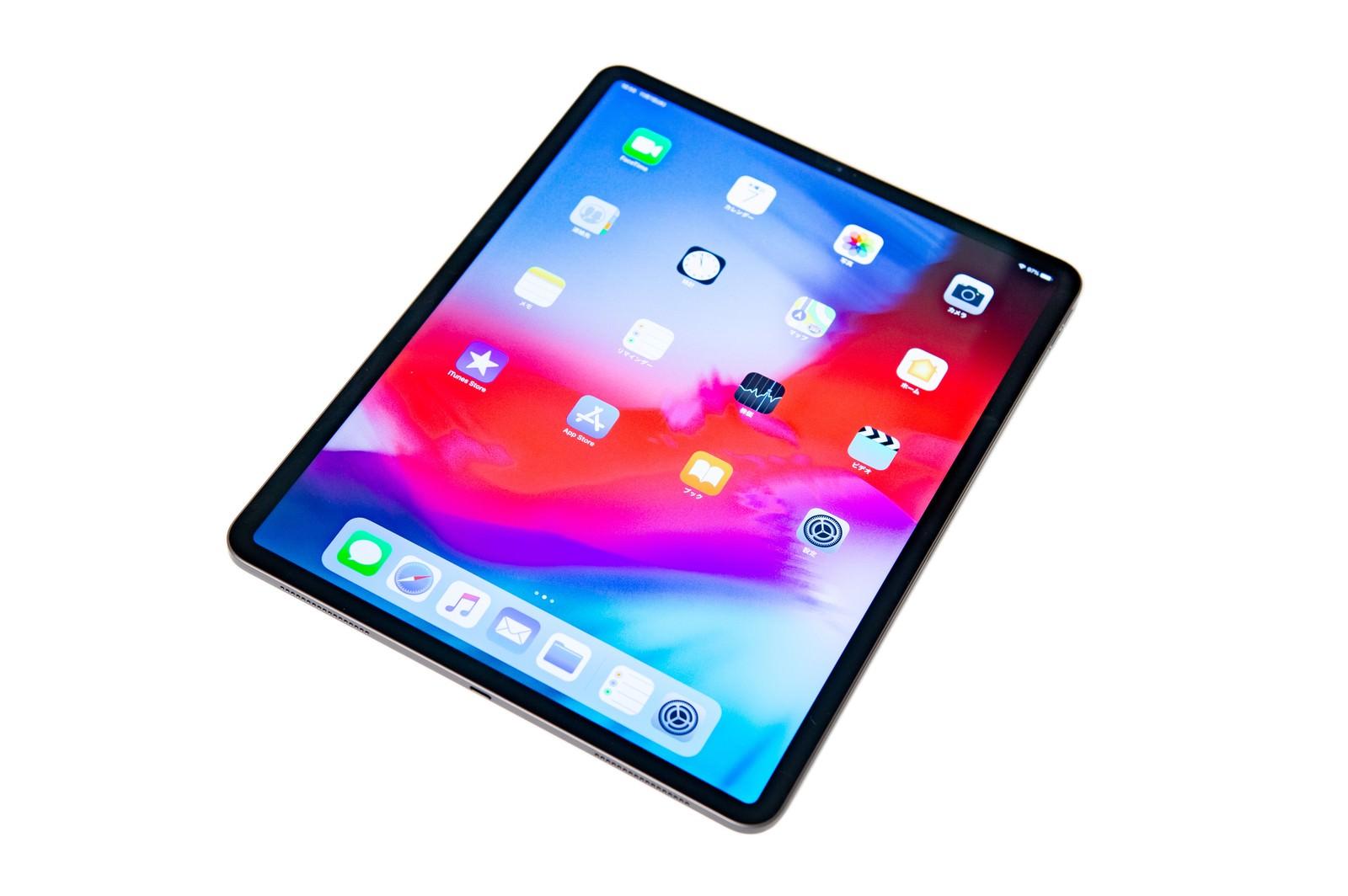 「iPad Pro 2018のホーム画面に並ぶアイコン」の写真