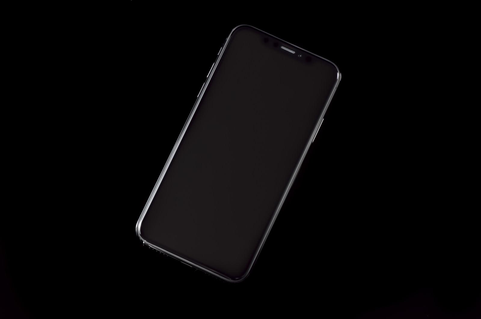 「iPhone X スペースグレイ(画面OFF)」の写真