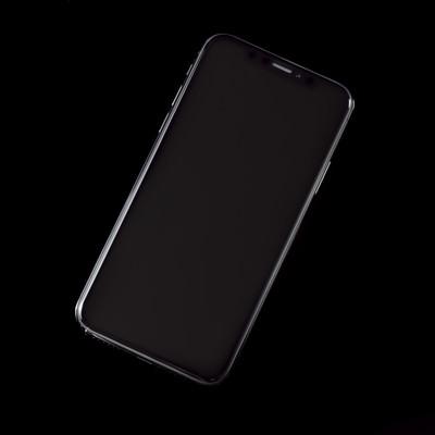 「iPhone X スペースグレイ(画面OFF)」の写真素材
