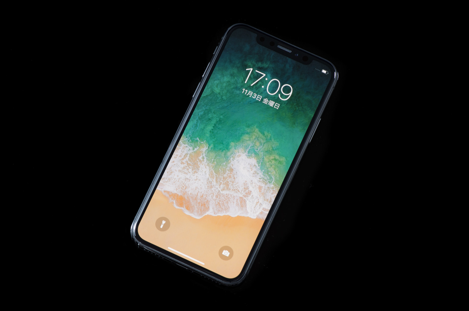 「iPhone X(アイフォーンテン・スペースグレイ)」の写真