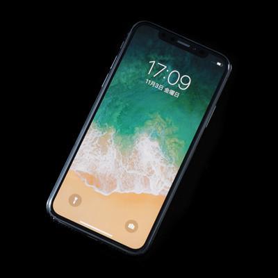 「iPhone X(アイフォーンテン・スペースグレイ)」の写真素材