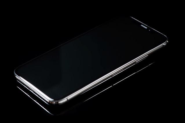 フレーム枠が美しい iPhone X スペースグレイの写真