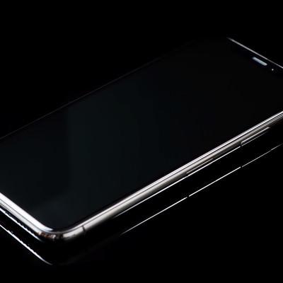 「フレーム枠が美しい iPhone X スペースグレイ」の写真素材