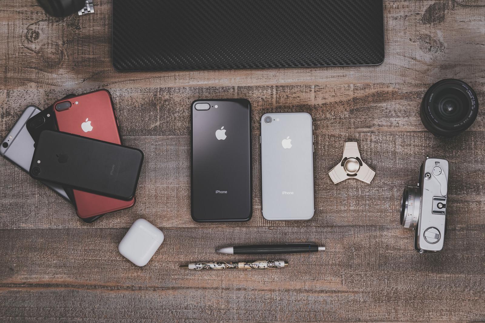 「複数のiPhoneを検証する」の写真