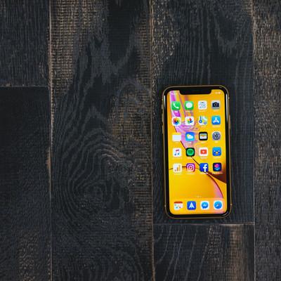 iPhone XR のホーム画面の写真