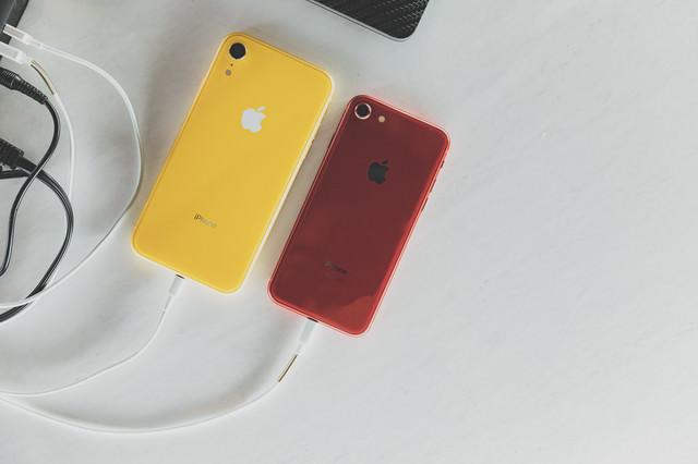 iPhone XR に有線で充電するの写真