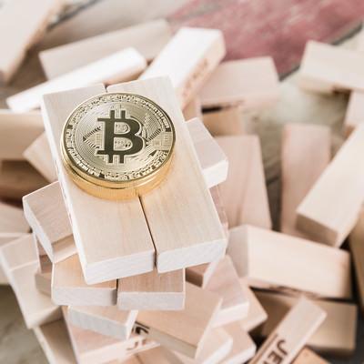 不安定なビットコインの写真