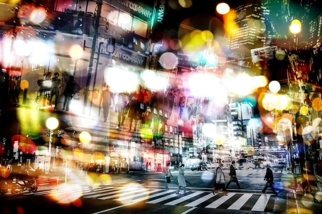 欲望と幻想の街(フォトモンタージュ)の写真