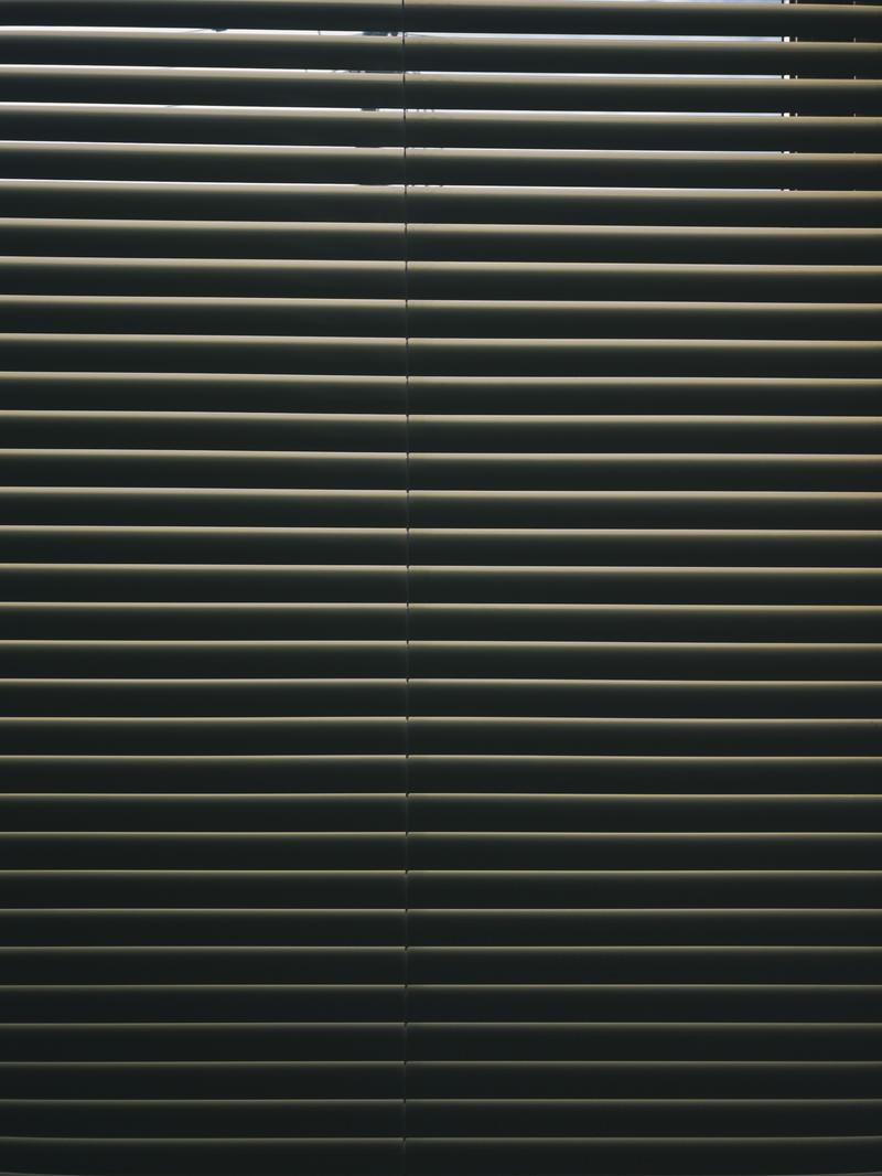 「目隠しのブラインド」の写真