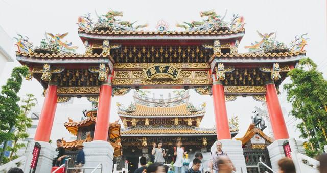 関帝廟入り口の写真