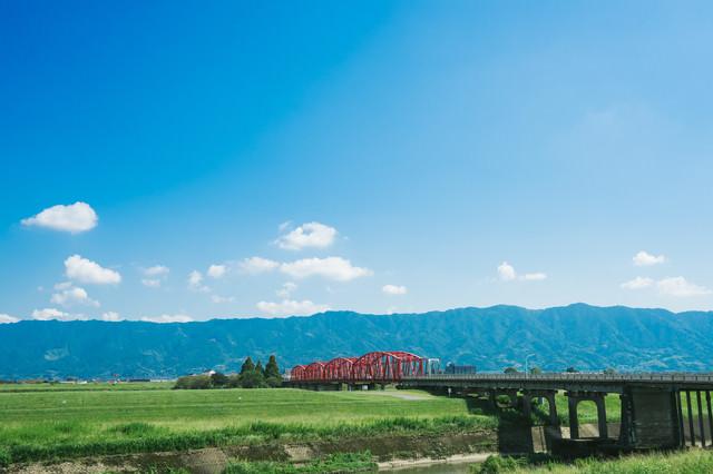 片の瀬橋の景観(三井郡大刀洗)の写真