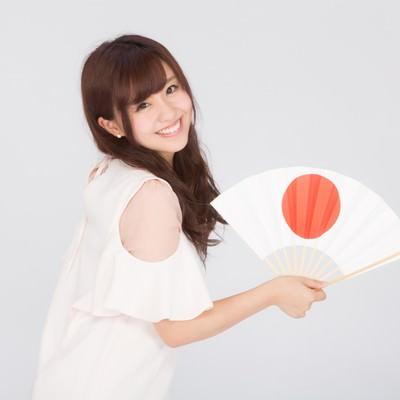 「日本一の笑顔」の写真素材