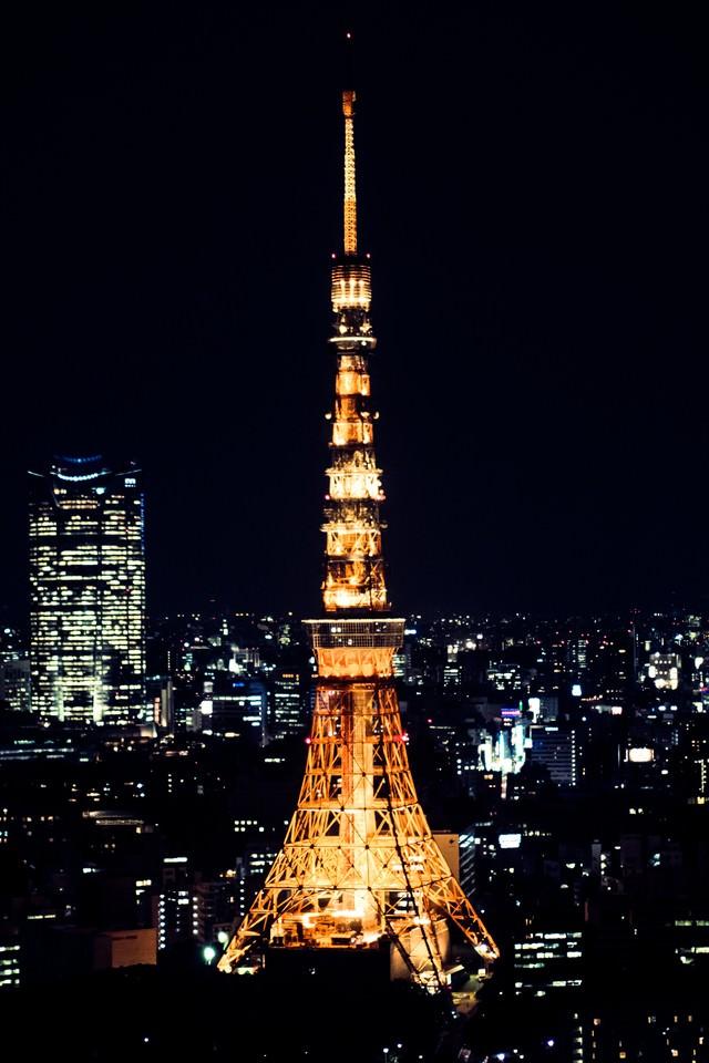 東京タワー(夜景)の写真