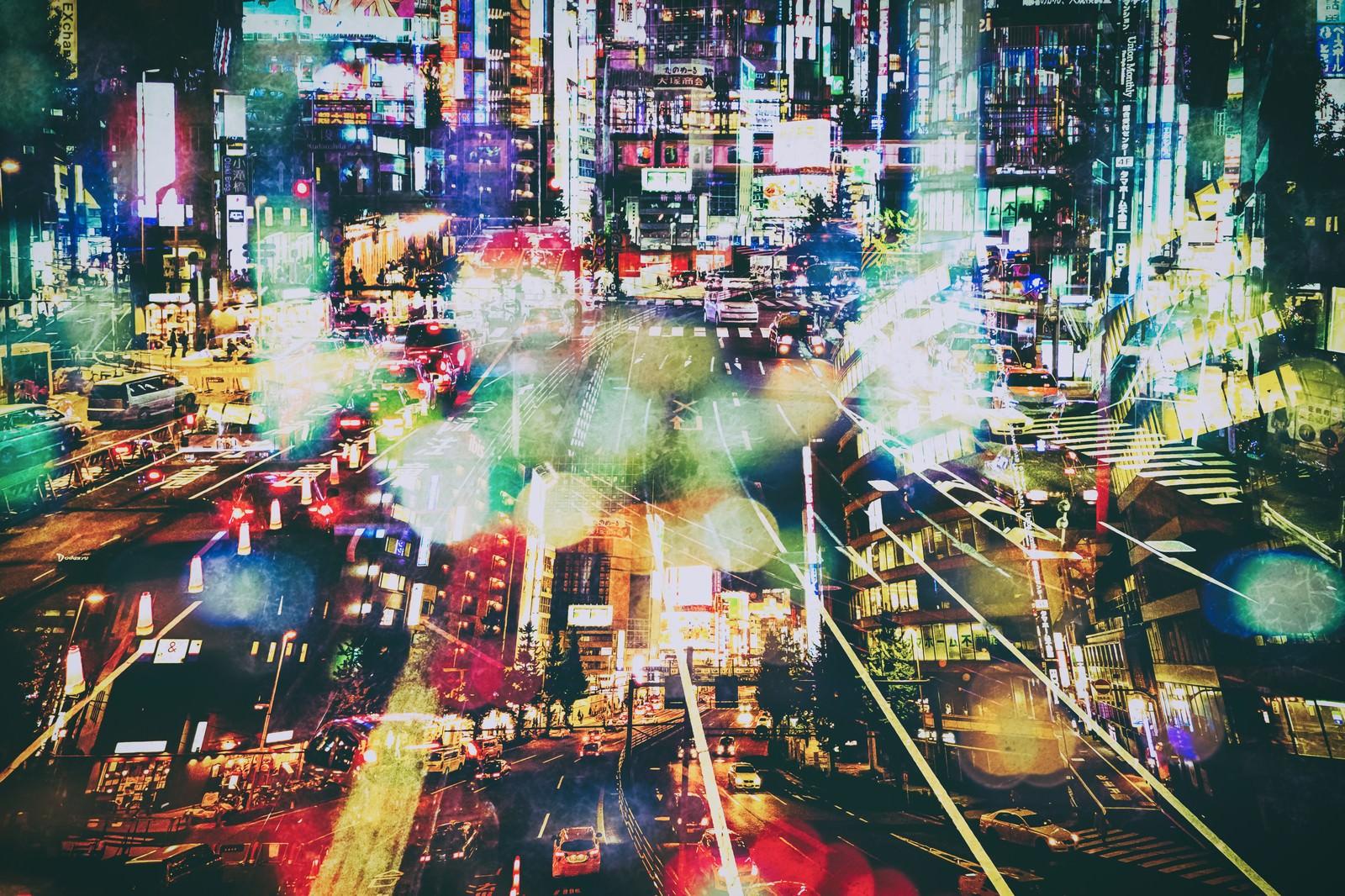 「雑多な街(フォトモンタージュ)雑多な街(フォトモンタージュ)」のフリー写真素材を拡大