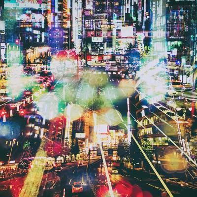 「雑多な街(フォトモンタージュ)」の写真素材