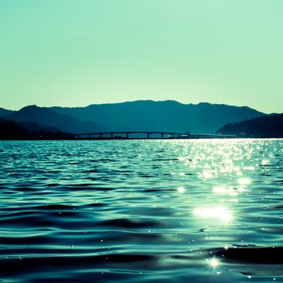 「穏やかな宇佐湾」の写真素材