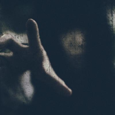 「呪いの瞬間」の写真素材