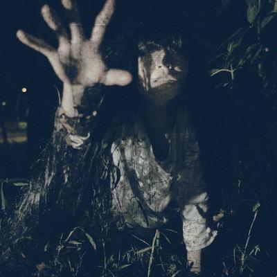「絶対に逃れられない恐怖」の写真素材